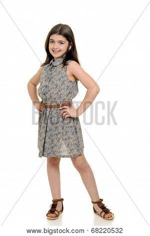 little girl in pretty summer dress