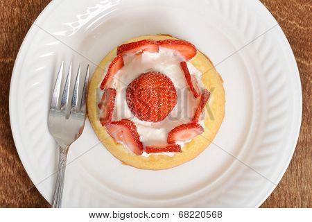 top view strawberry shortcake