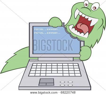 Virus broke the computer