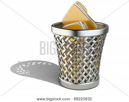 Wastepaper Basket With Folders