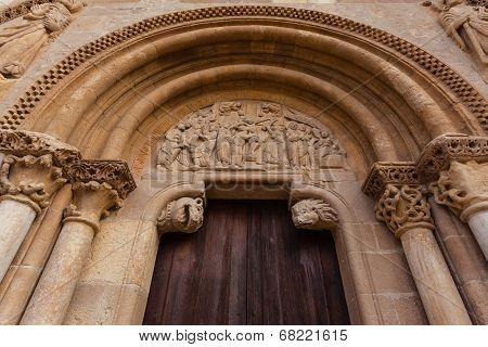 Archivolts In The Romanesque Style Door Of San Isidoro Collegiate In Leon