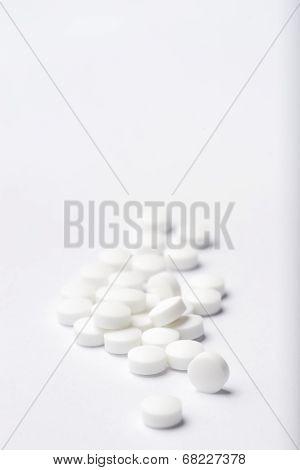 Heap Of White Pills.