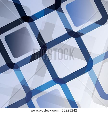 Blue Abstract Background - Creative Design Template in Freely Editable EPS10 Vector Format