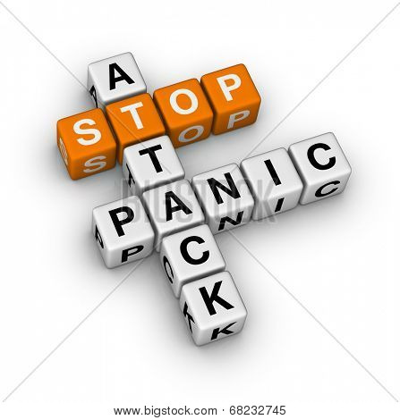 stop panic attack (orange-white crossword puzzles series)