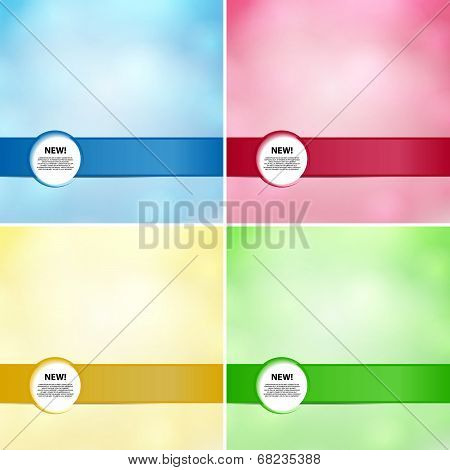 Stylish fashion card of business poster with banner