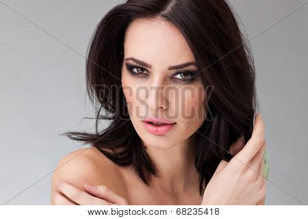 Portrait Of A Beautiful Caucasian Woman