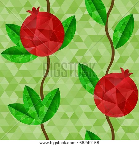 Pomegranates Seamless Pattern