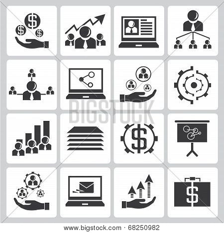 investment and financial icons