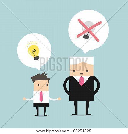 Boss killing the ideas