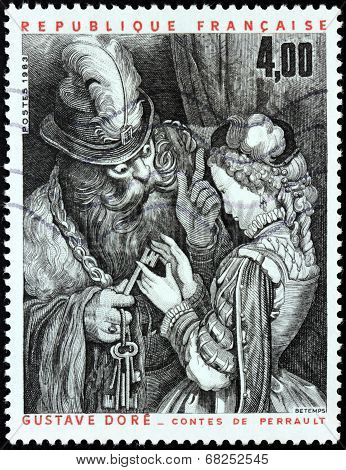 Bluebeard Stamp