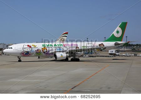 Eva Air Airbus A330-200 Hello Kitty In Tokyo Narita