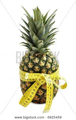 Pineapple With Measuring Tape.