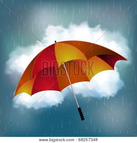 Umbrella on a really rainy day