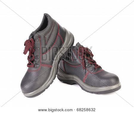 Mens sport leather shoes.