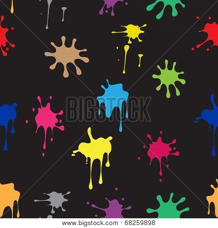 Seamless pattern of colored spots