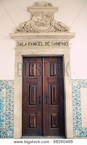 Wooden Door, University Of Coimbra