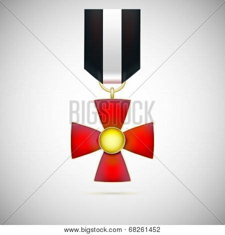 Red Cross, illustration of a military medal