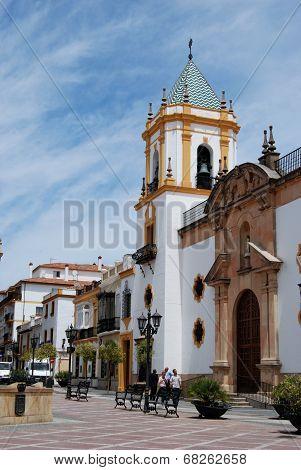 Church in town square, Ronda.