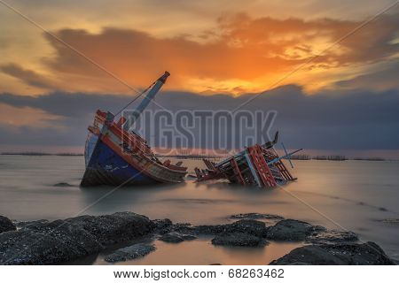 The Wrecked Ship, Thailand