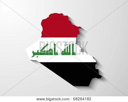 Iraq Map With Shadow Effect Presentation