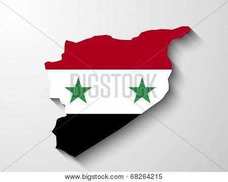 Syria Map With Shadow Effect Presentation