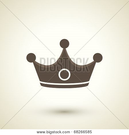 Retro Style Crown Icon