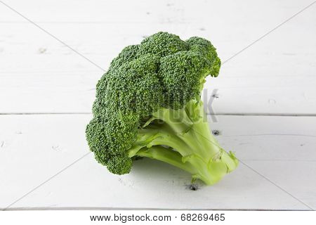 Broccoli On A White Table