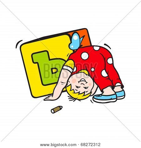 Child Playing With Dice Sign