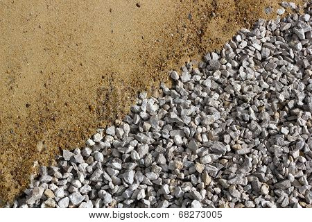 Sand And Broken Stone Diagonal Background