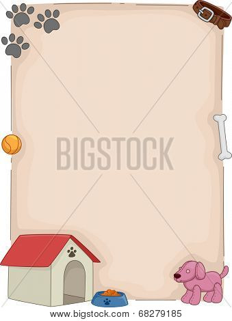 Background Illustration Featuring Dog-Related Items