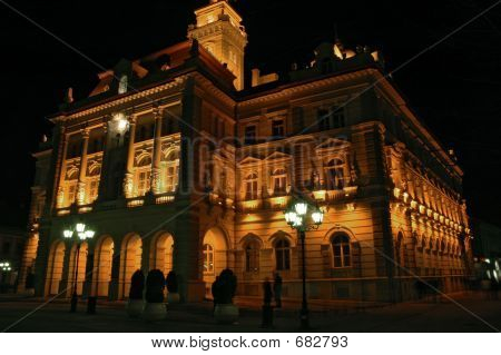 poster of City Hall By Night