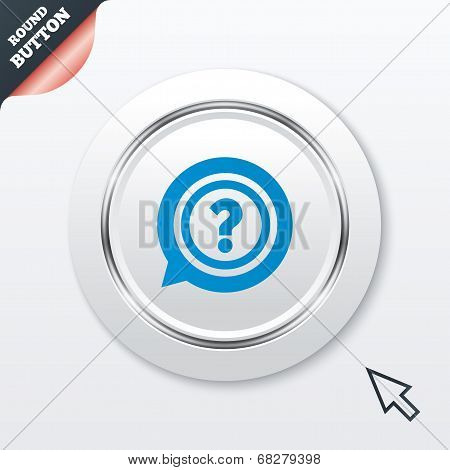 Question mark sign icon. Help symbol.