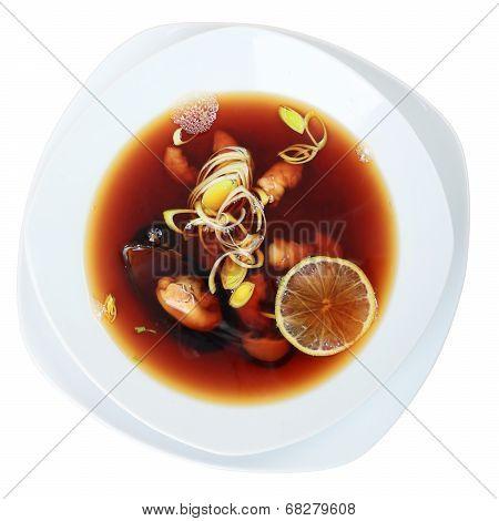 Suimono Soup Top View