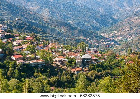 Pedoulas, A Popular Touristic Village In The Nicosia District Of Cyprus