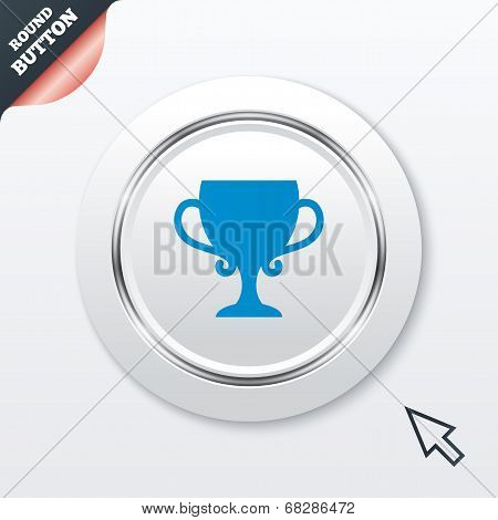 Winner cup sign icon. Awarding of winners.