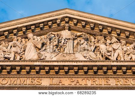 The Pantheon, Paris France-architectural detail