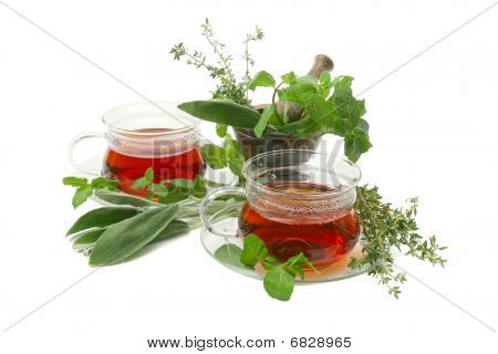 Tea with herbs.