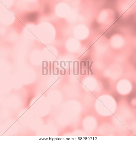 Abstract Pink Bokeh Background. Elegant Vintage Texture With Blurred  De Focused Lights