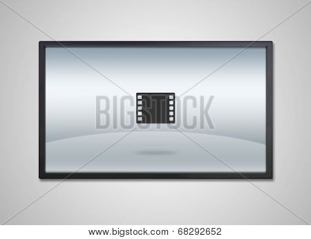 Tv Display With Entertainment Film Icon