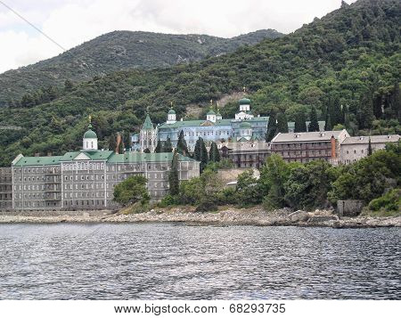 Mount Athos as seen from the sea