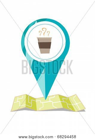 Coffee Location Icon