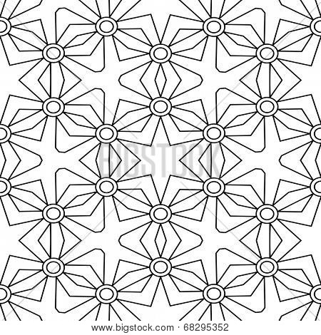 Abstract seamless black and white pattern ( another format  in portfolio)