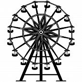 picture of ferris-wheel  - Detailed vector illustration of a ferris wheel from an amusement park - JPG