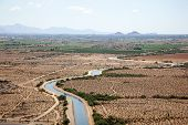 image of pima  - CAP Irrigation water being supplied to crops on the reservation near Phoenix Arizona - JPG