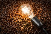 picture of pot roast  - Light bulb on coffee beans - JPG