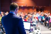 image of speaker  - Speaker at Business Conference and Presentation - JPG