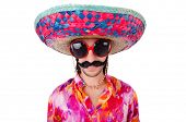 picture of sombrero  - Funny mexican with sombrero hat - JPG