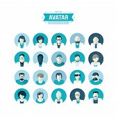 picture of avatar  - Set of flat design avatar icons for medicine - JPG