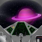 stock photo of saturn  - Spaceship cabin - JPG