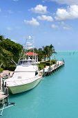 Постер, плакат: Флорида ключей рыбацкие лодки в бирюзовой водного